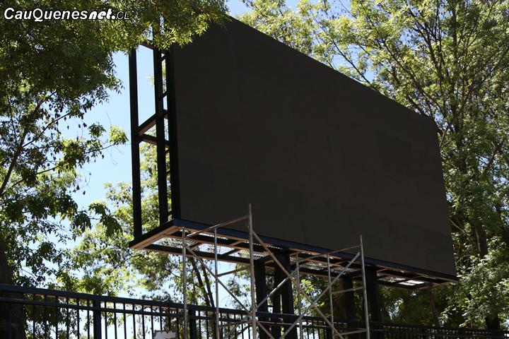 #Cauquenes: Estadio Manuel Moya Medel ya cuenta con nuevo tablero electrónico
