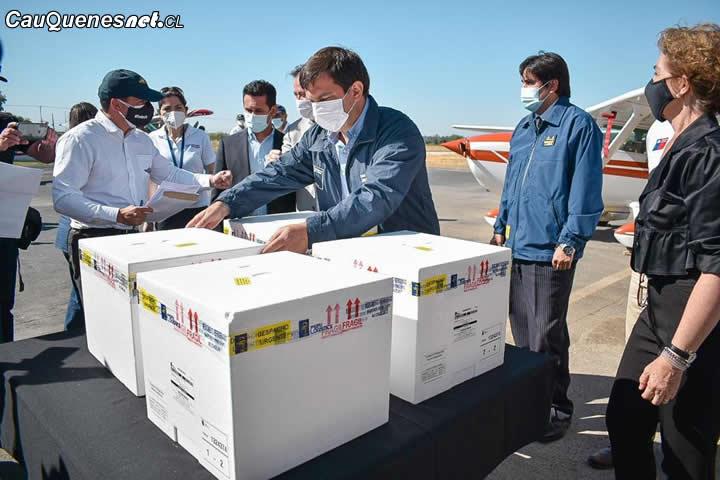 Llegan más de 500 vacunas a la Región del Maule para aplicar segundas dosis