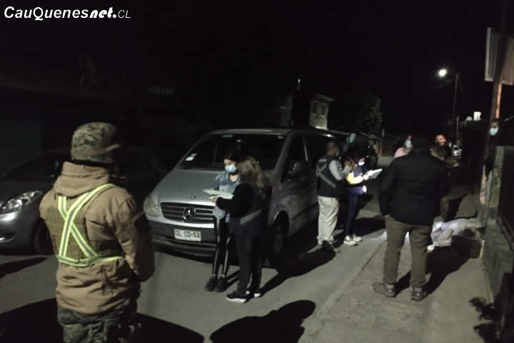 La noche de este sábado se cursaron 10 sumarios sanitarios en Cauquenes
