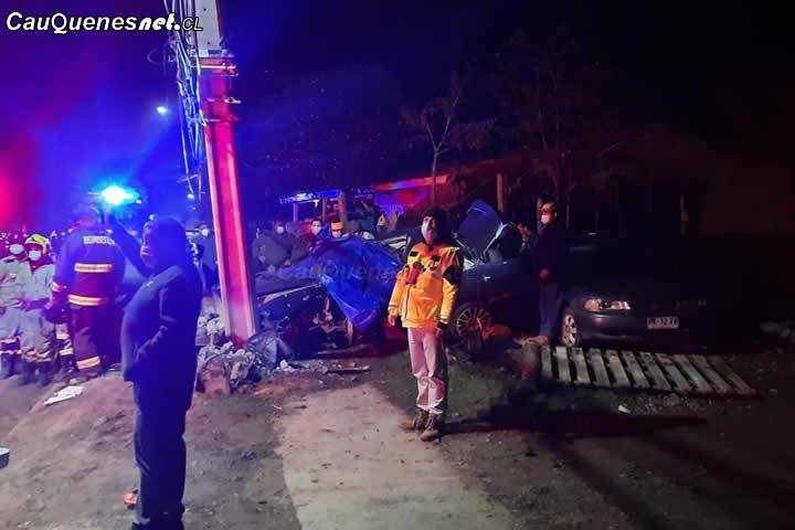 #Cauquenes: Trágico accidente deja dos personas fallecidas en sector Porongo