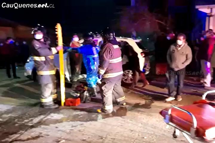#Cauquenes: Accidente vehicular dejó un lesionado