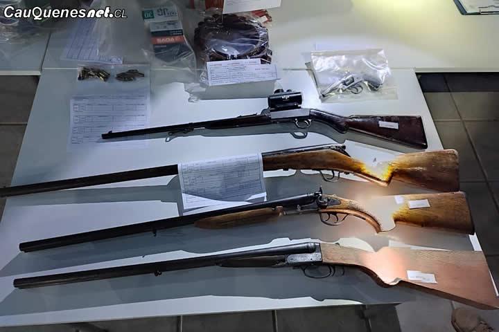 Detienen a 12 personas por tráfico de municiones y cohecho en #Cauquenes y #Constitución