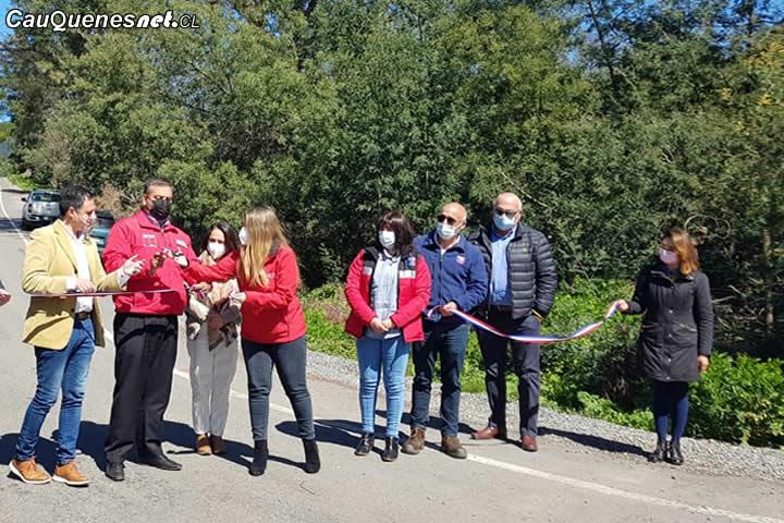 El MOP Maule inauguró dos importantes caminos rurales de la provincia de Cauquenes